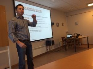 Lars Petter Sjøvold, Røstad entreprenør (foto: Hanne O. Finnestrand)